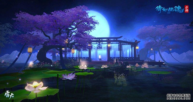 唯美梦幻的湖心岛